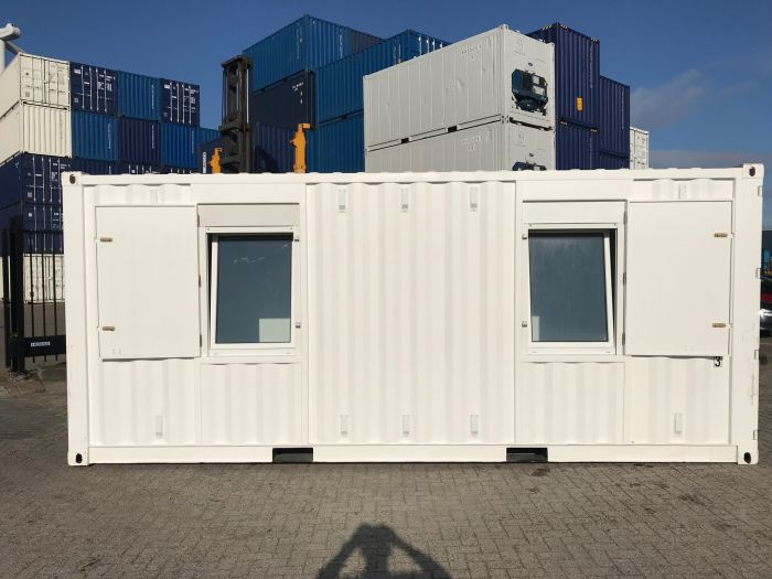 20ft accommodatie container - zijaanzicht