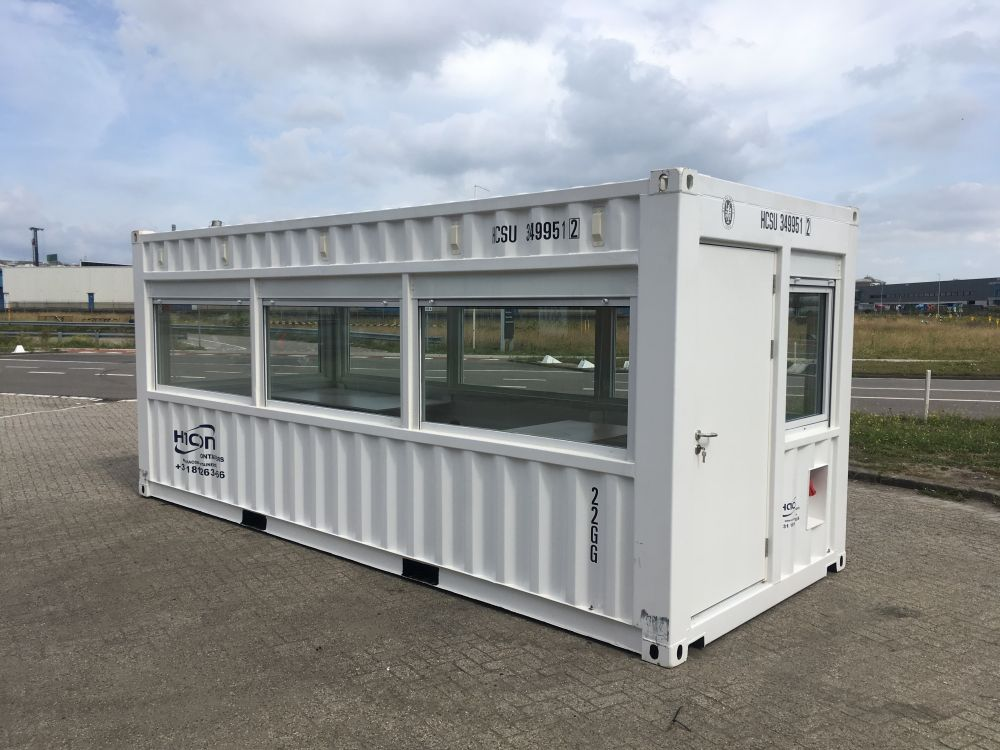 20ft observatiecontainer - zijaanzicht