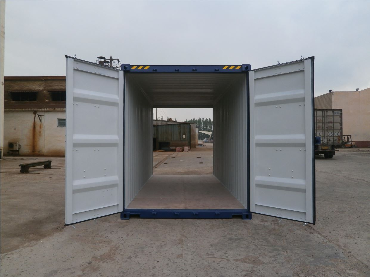 20ft High Cube container double doors geopend
